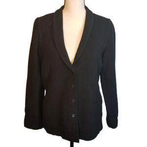 Eileen Fisher Medium Black Textured Blazer Italian